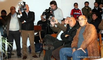 Perdomo, Varela y Enciso. Detrás Emilio Rodriguez de FTC y Mauricio Sanner de TVF