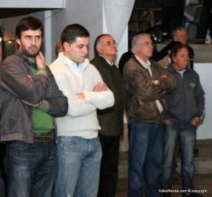 Presidente del CCIF Sr Arniz, RRPP LFF Cr Llugain,Secretario de LFF Sr Tejería y Ent Miguel Consul