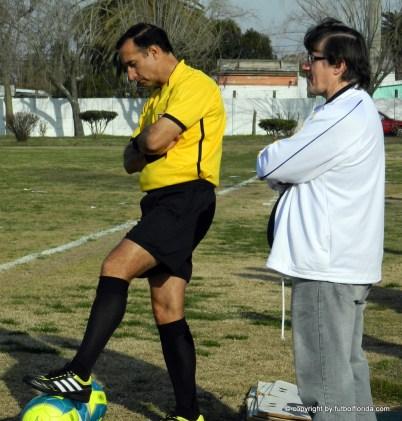 El Consejero Miguel Alfonso y el 4to árbitro