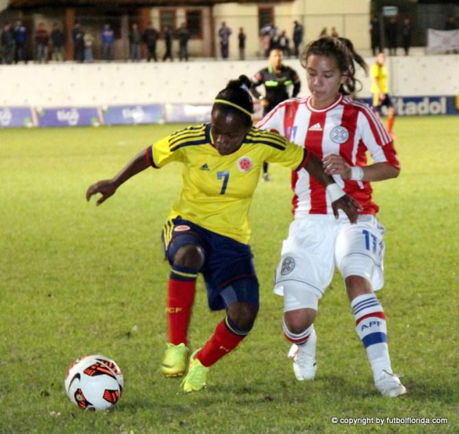 Gran partido se jugó entre colombianas y paraguayas