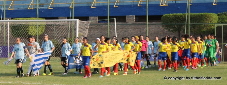La entrada de los equipos