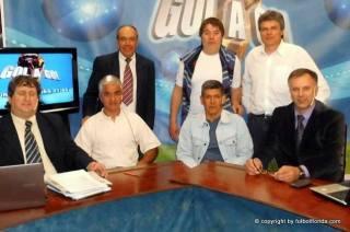 Walter Brajus en su visita a Gol a Gol. Foto Isidro Rocca