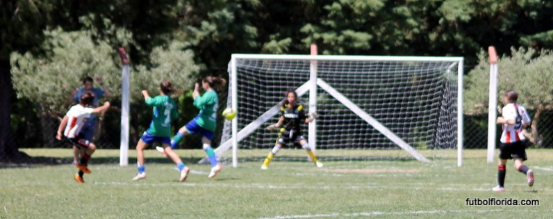 De tiro libre, Marilia Pedraja Ferreira señala el único gol