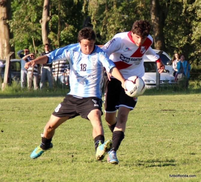 Dos jóvenes. Siré de Atlético y Ramos de River