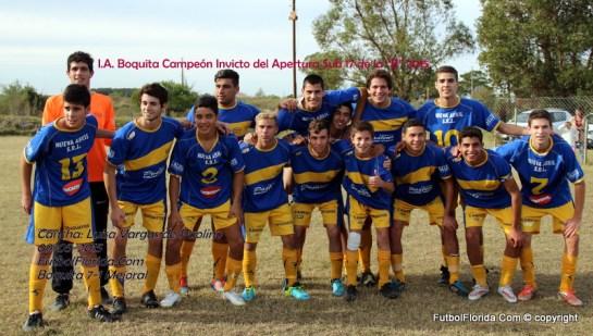 Boquita Campeón Apertura 2015 de la B Sub 17. Foto Fanny Ruetalo
