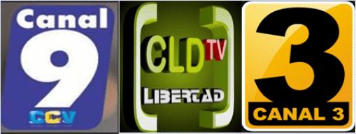 Canal 3 y  9 de San José, junto a CLDTV Libertad