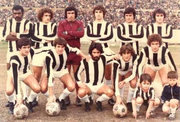 Wanderers con Krasouski, Sergio Gonzalez, Juan Cabrera y Francéscoli
