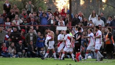 El festejo de Libertad luego del gol de Pereira. Foto Arlett Lopez