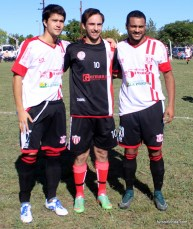 Enzo Tristant, Matías Romego y Esteban Ledesma
