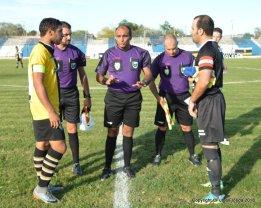 Rodolfo Rivero (Central), Walter Correa y Franco Da Silva (Asistentes).