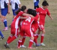 El primer festejo fue rojo al marcar María Godoy de penal contra Quilmes