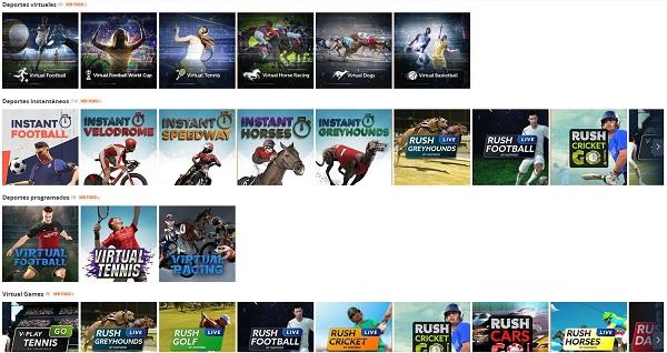 Apuestas en deportes virtuales Betsson