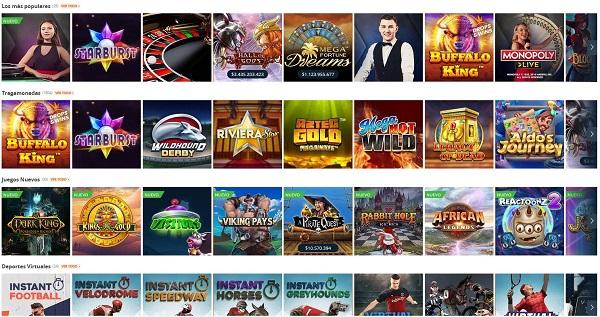 Juegos de casino online en Betsson Latam