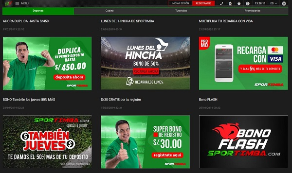 Promociones de apuestas Sportimba