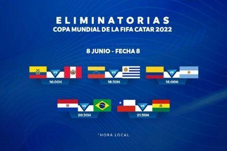 jornada 8 de las eliminatorias Sudamericanas de Catar 2022