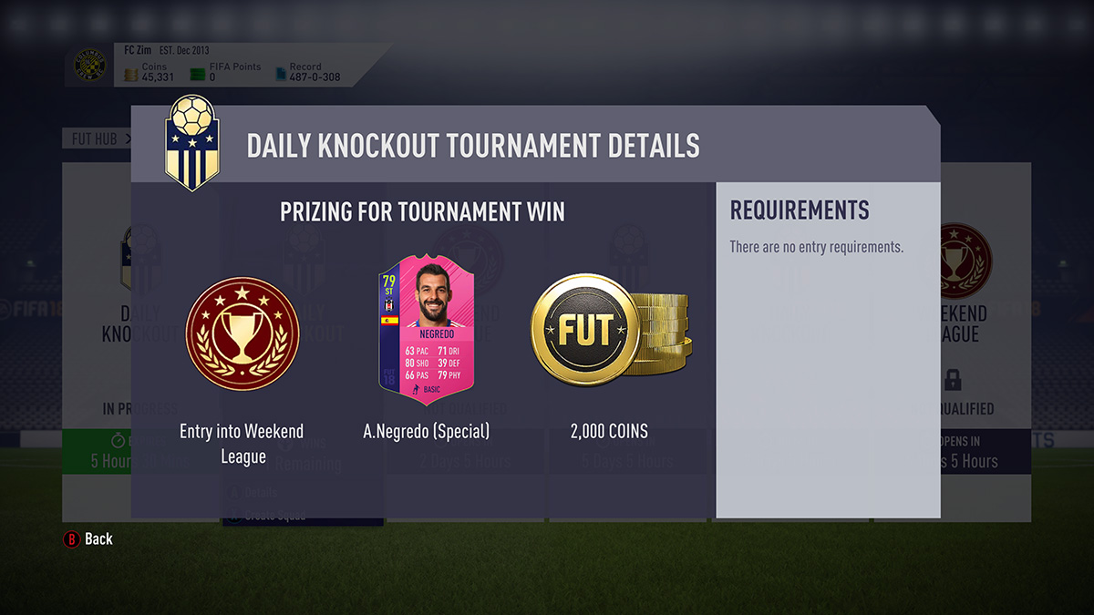 FUT Swap Deals: Everything we know about the SBCs. Objectives. Daily Knockout Tournaments - Futhead News
