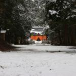 新雪を踏む『藤社神社』