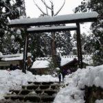 『雪景色の神体山』元伊勢皇大神社~天岩戸神社と日室ヶ嶽遥拝所