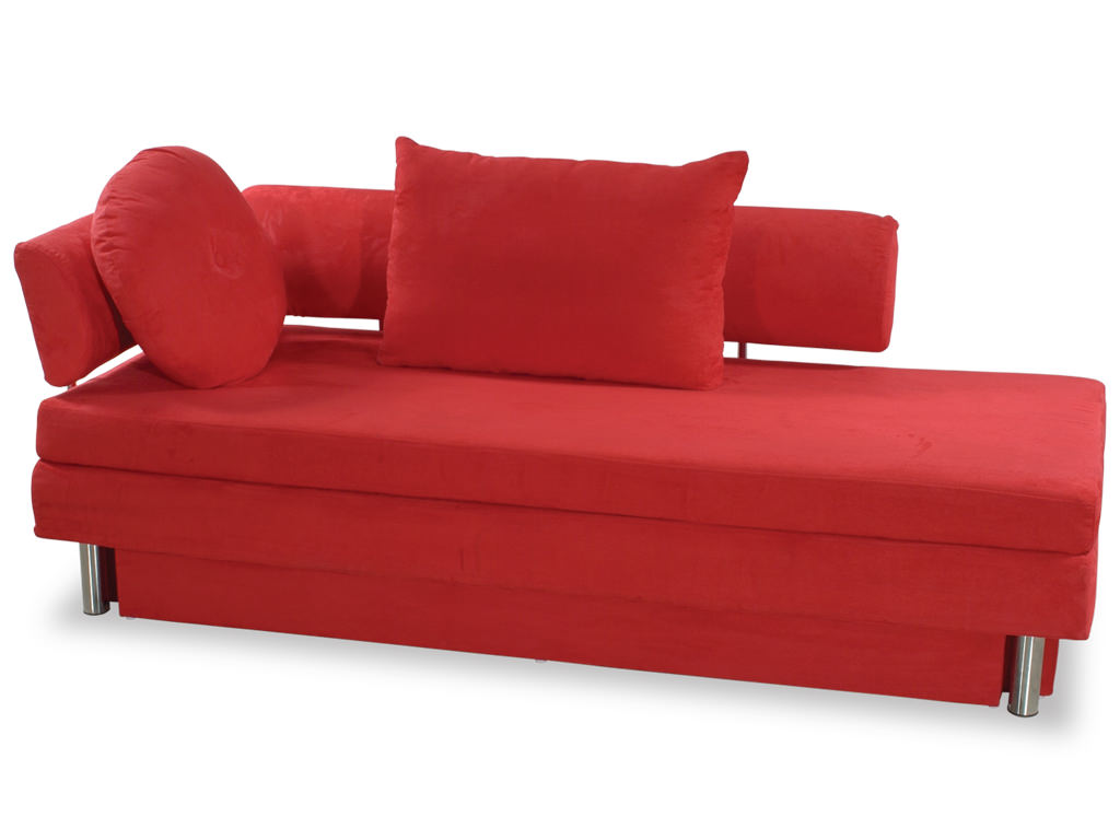red microfiber sofa l shaped leather sofas uk nubo queen size bed by at home usa