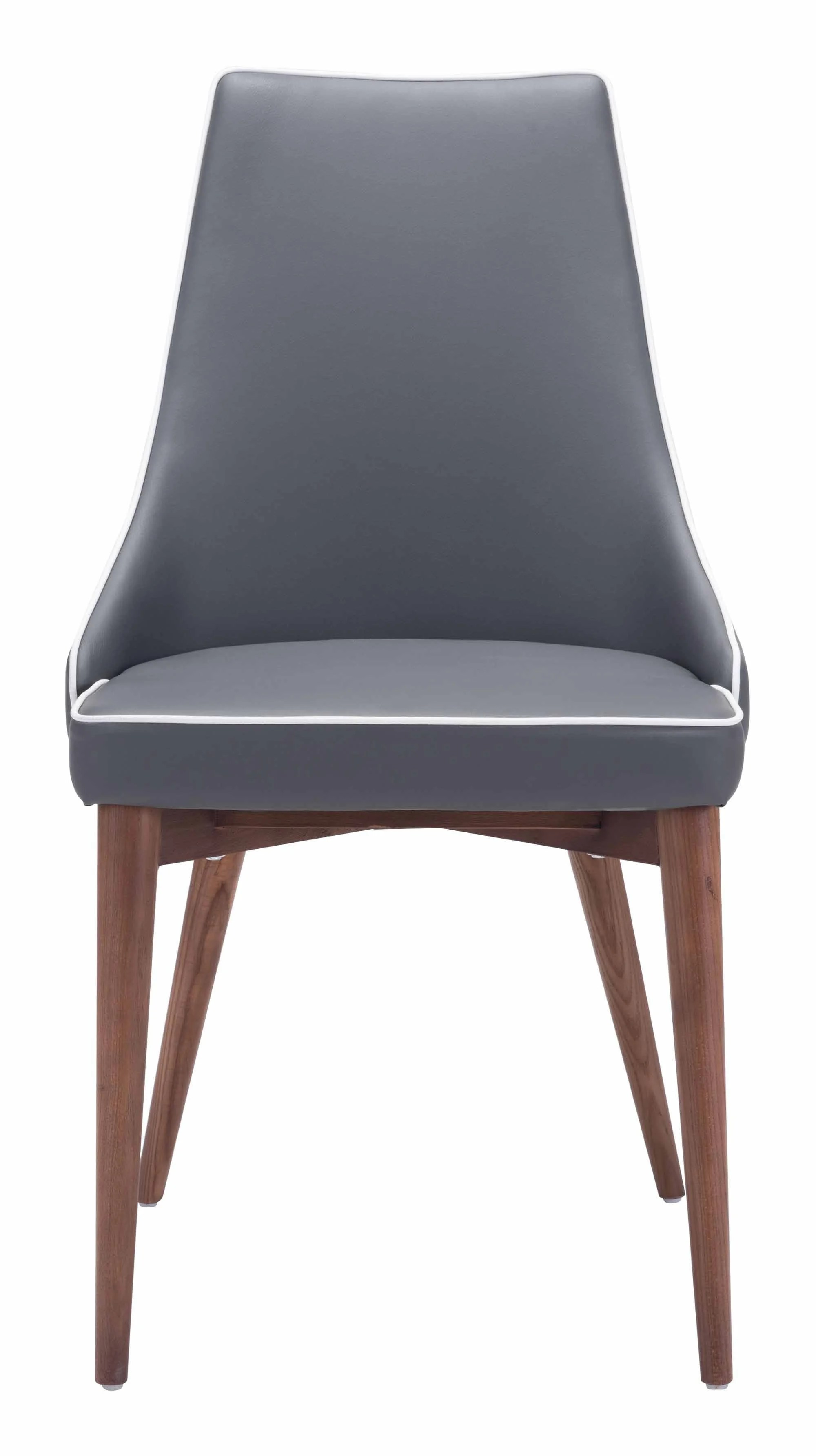 Dark Grey Dining Chairs Moor Dining Chair Dark Gray Set Of 2 By Zuo Modern