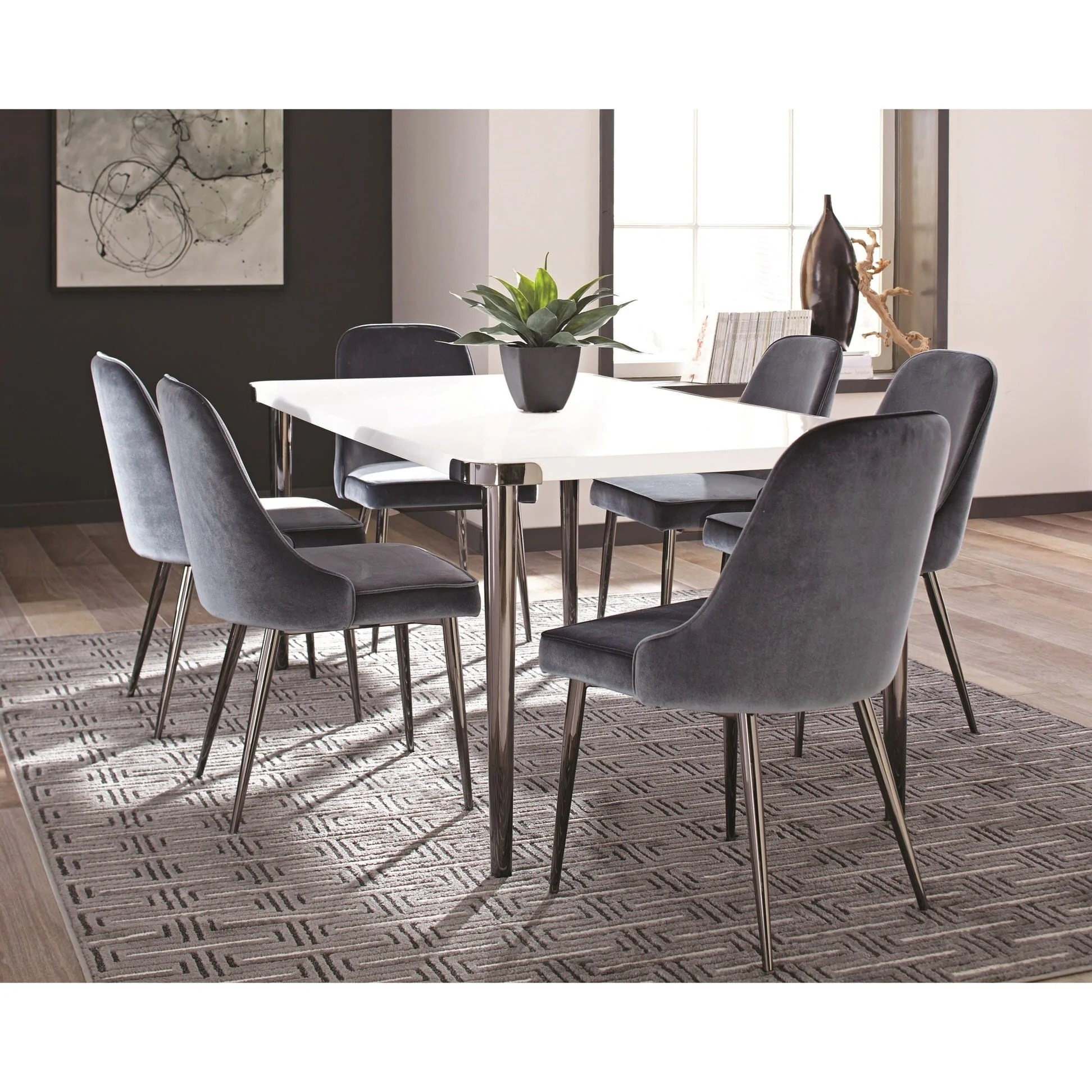 Blue Dining Chairs 107954 Slate Blue Dining Chair By Scott Living