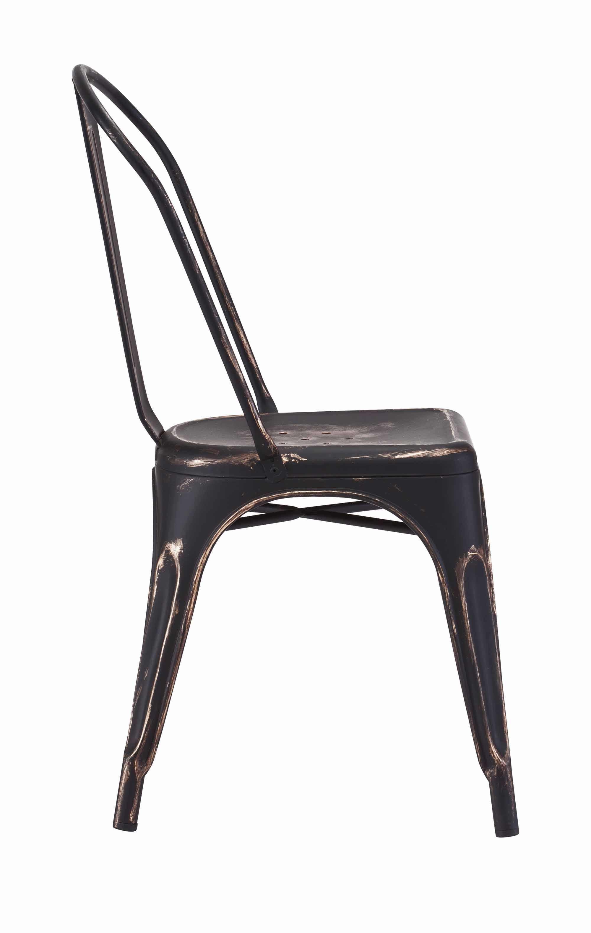 gold dining chairs slip cover chair elio anti black set of 2 by zuo modern