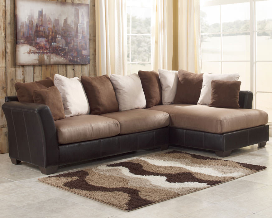 sectional sofa for living room craigslist chicago sleeper masoli mocha set signature design by ashley ...
