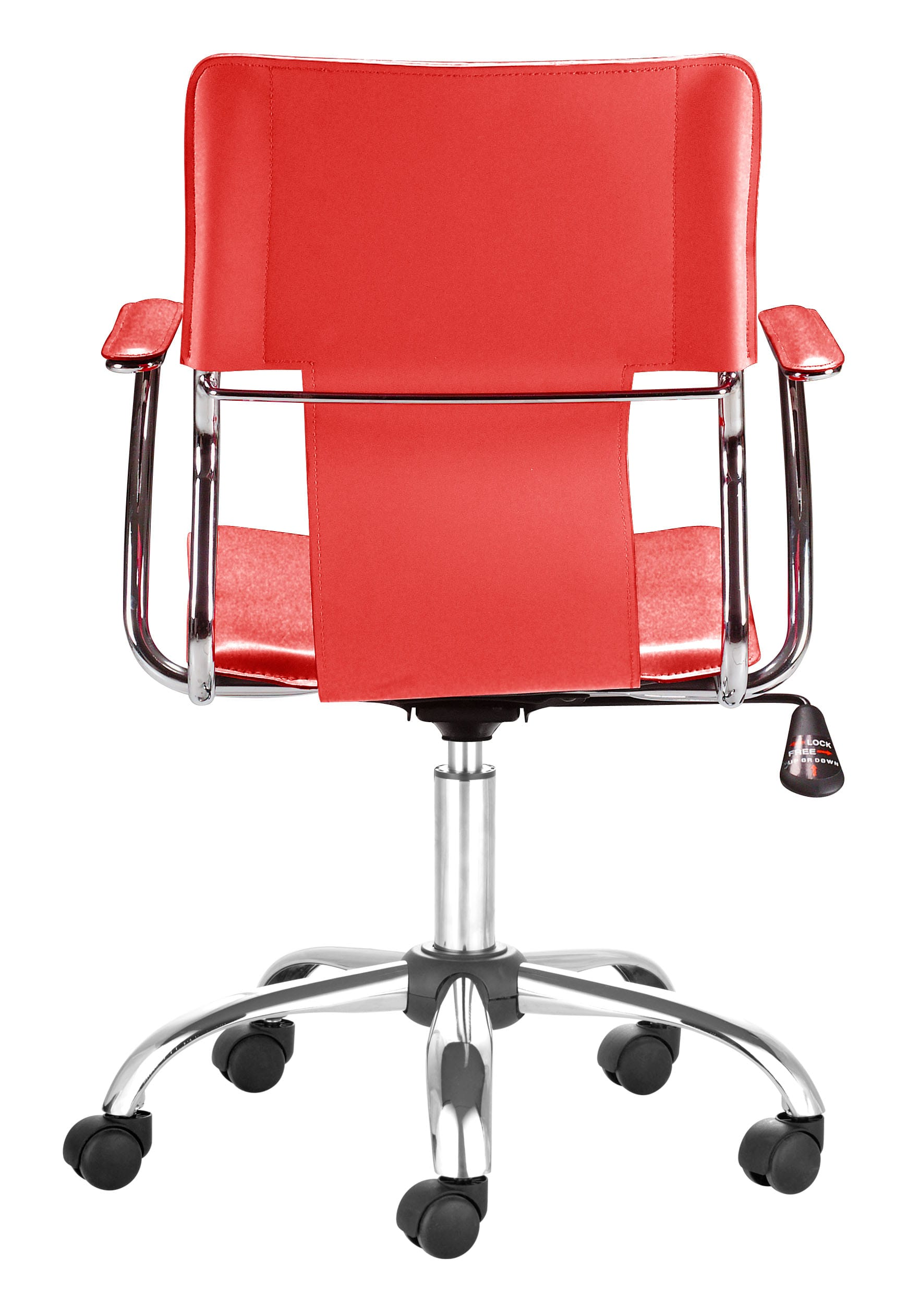 office chair red comfy dining chairs trafico by zuo modern