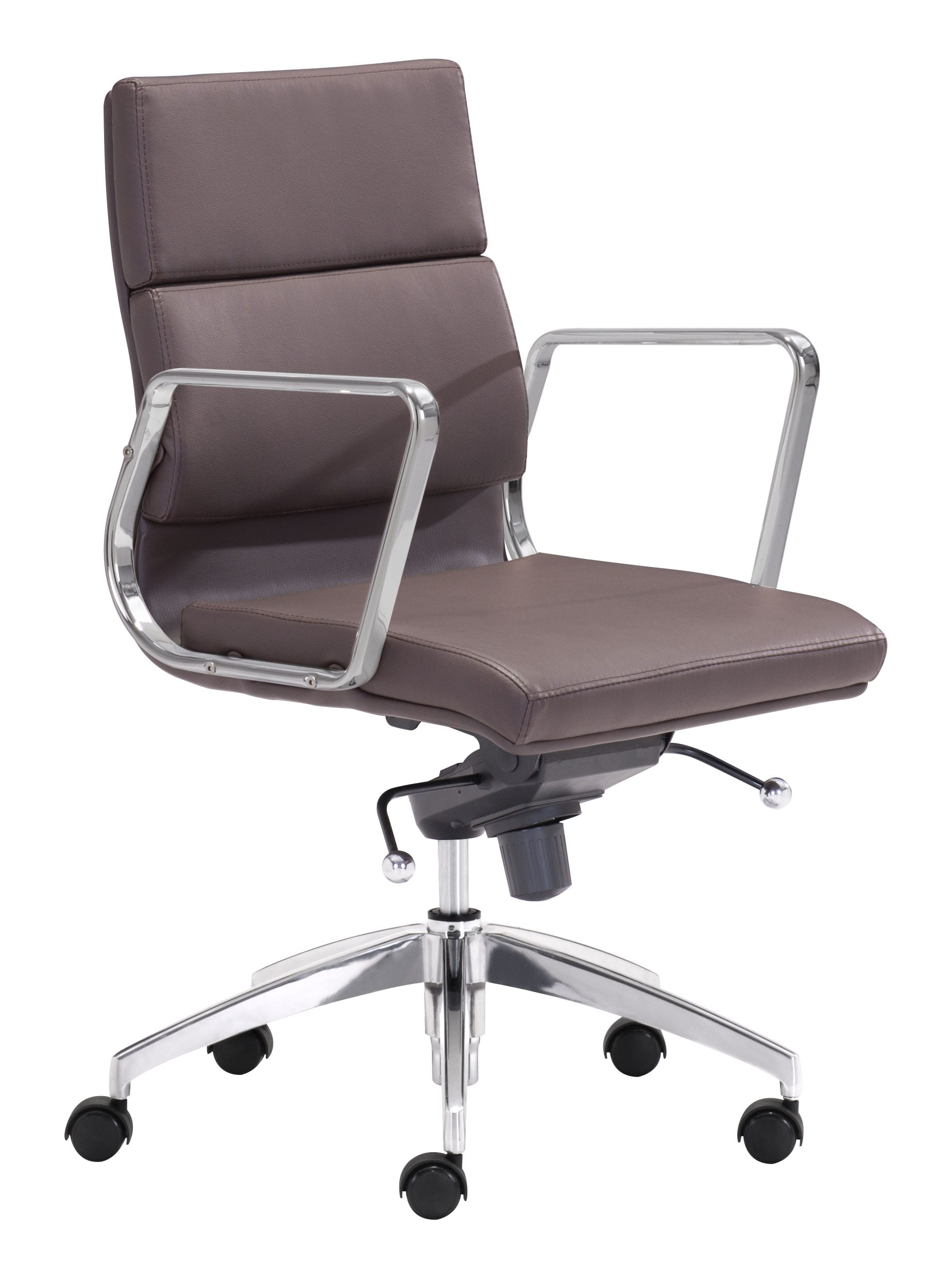 Low Back Office Chair Engineer Low Back Office Chair Espresso By Zuo Modern