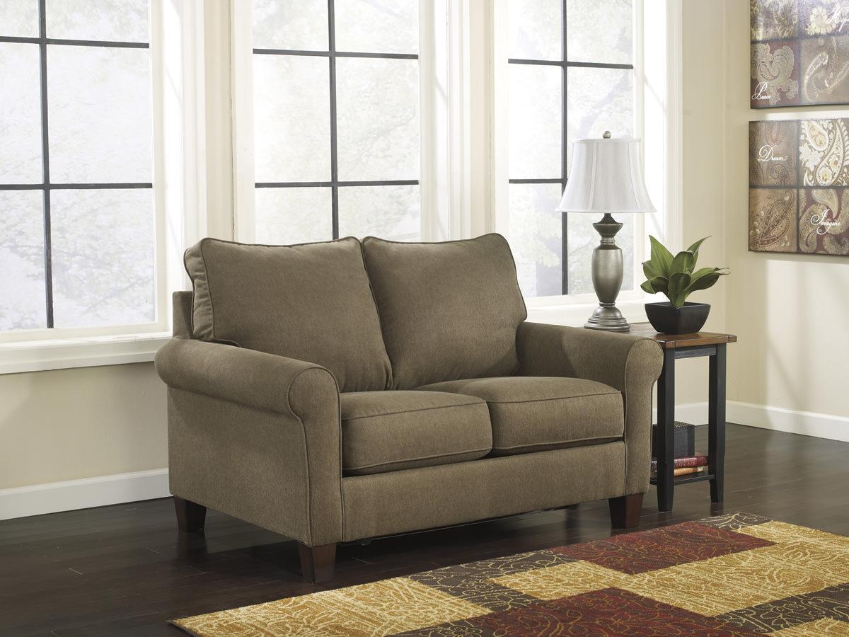 ashley sleeper sofa foam chairs zeth basil queen signature design by