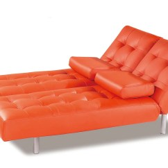 Orange Sofa Bed Aubergine Leather Trio Leatherette By At Home Usa