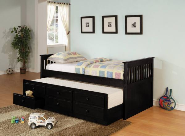 300104 Twin Size Black Daybed Coaster
