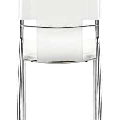 White Dining Chairs Set Of 4 Wheelchair Drive Trafico Chair By Zuo Modern