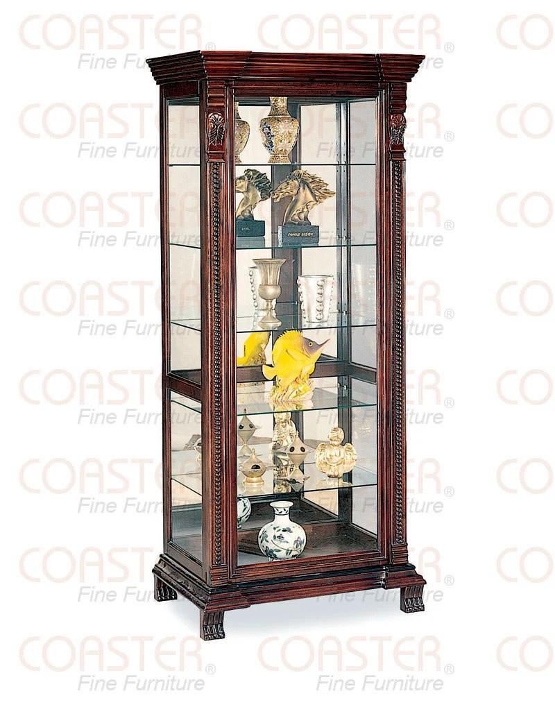 4715 Curio Cabinet Cappuccino by Coaster