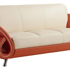 Lucas Beige Orange Leather Sofa Set Furniture Village Sofas Ireland U559 By Global