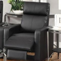 Reclining Chairs Modern Beauty Salon Waiting 600181 Push Back Chair Recliner Black Vinyl By Coaster