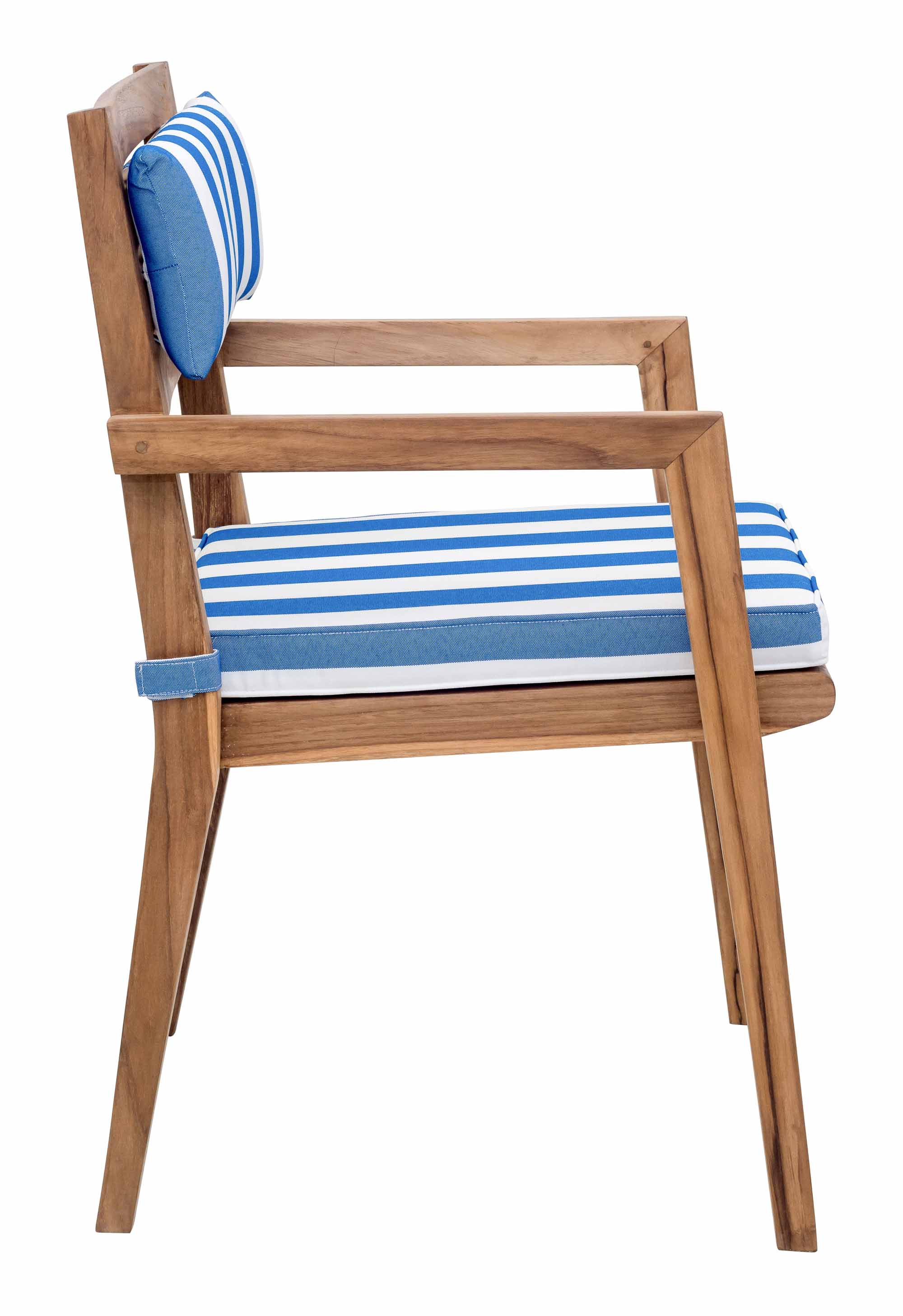 white cushion chair baby swing vibrating combo nautical back blue and set of 2 by zuo