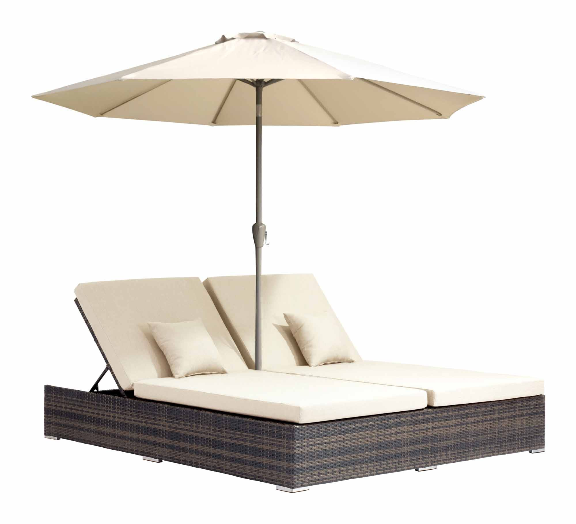 Double Lounge Chair Atlantic Double Chaise Lounge Brown By Zuo Modern