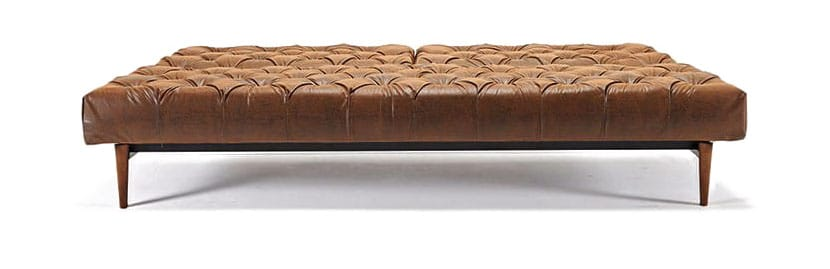 chesterfield sofa bed couch for oldschool vintage brown leather textile by innovation
