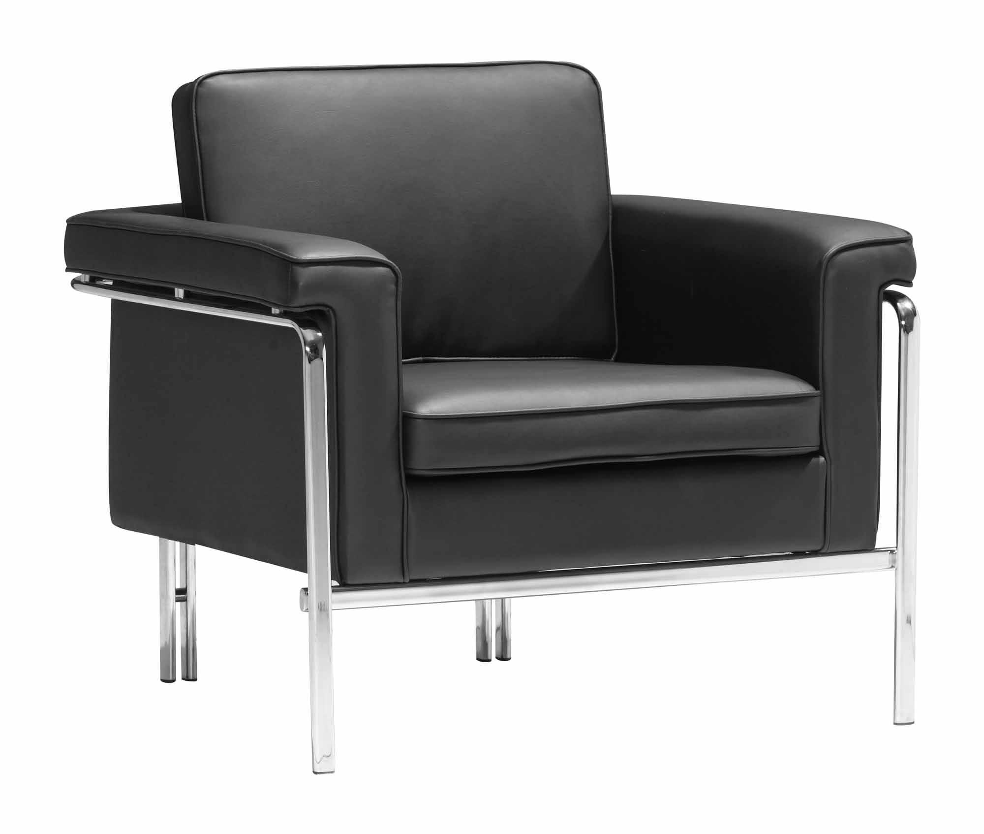 Singular Arm Chair Black by Zuo Modern