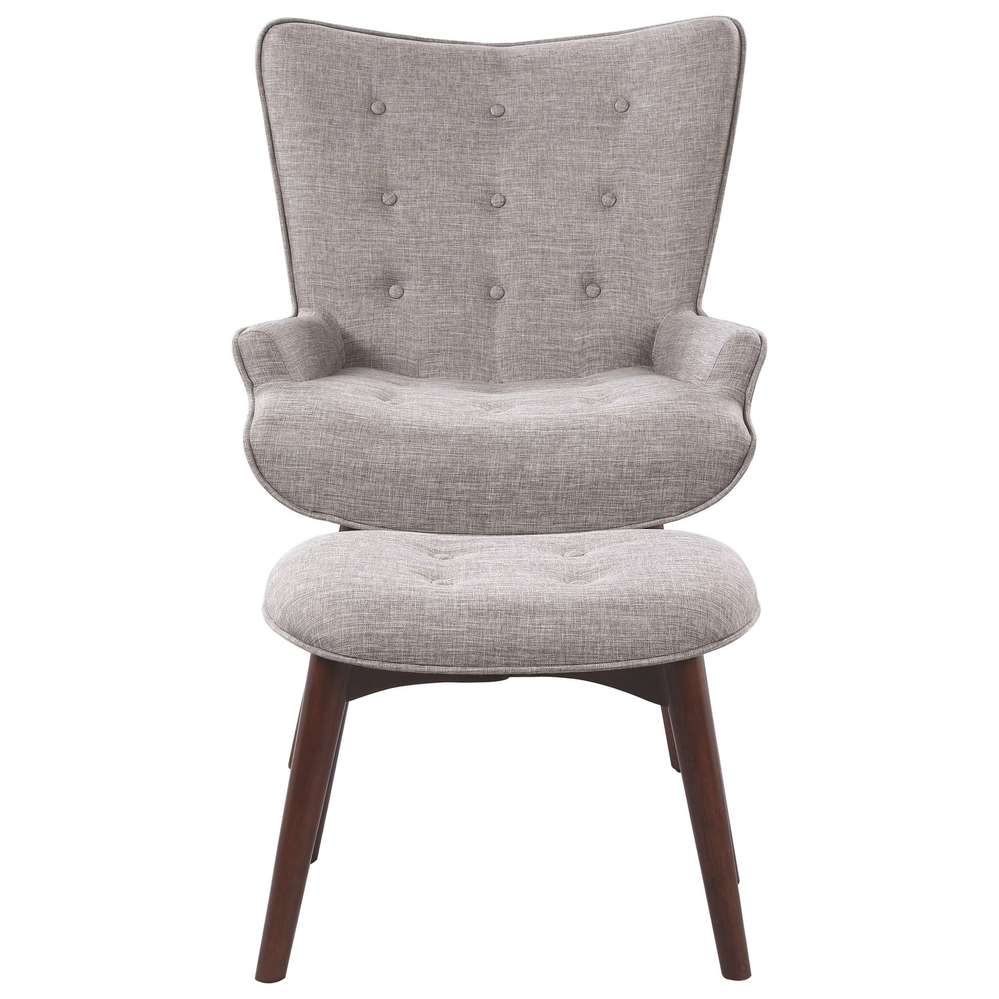 Light Gray Accent Chairs 903820 Light Gray Accent Chair With Ottoman By Scott Living