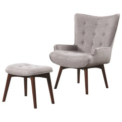 Grey Oversized Chair With Ottoman Rustic Bistro Table And Chairs 903820 Light Gray Accent By Scott Living
