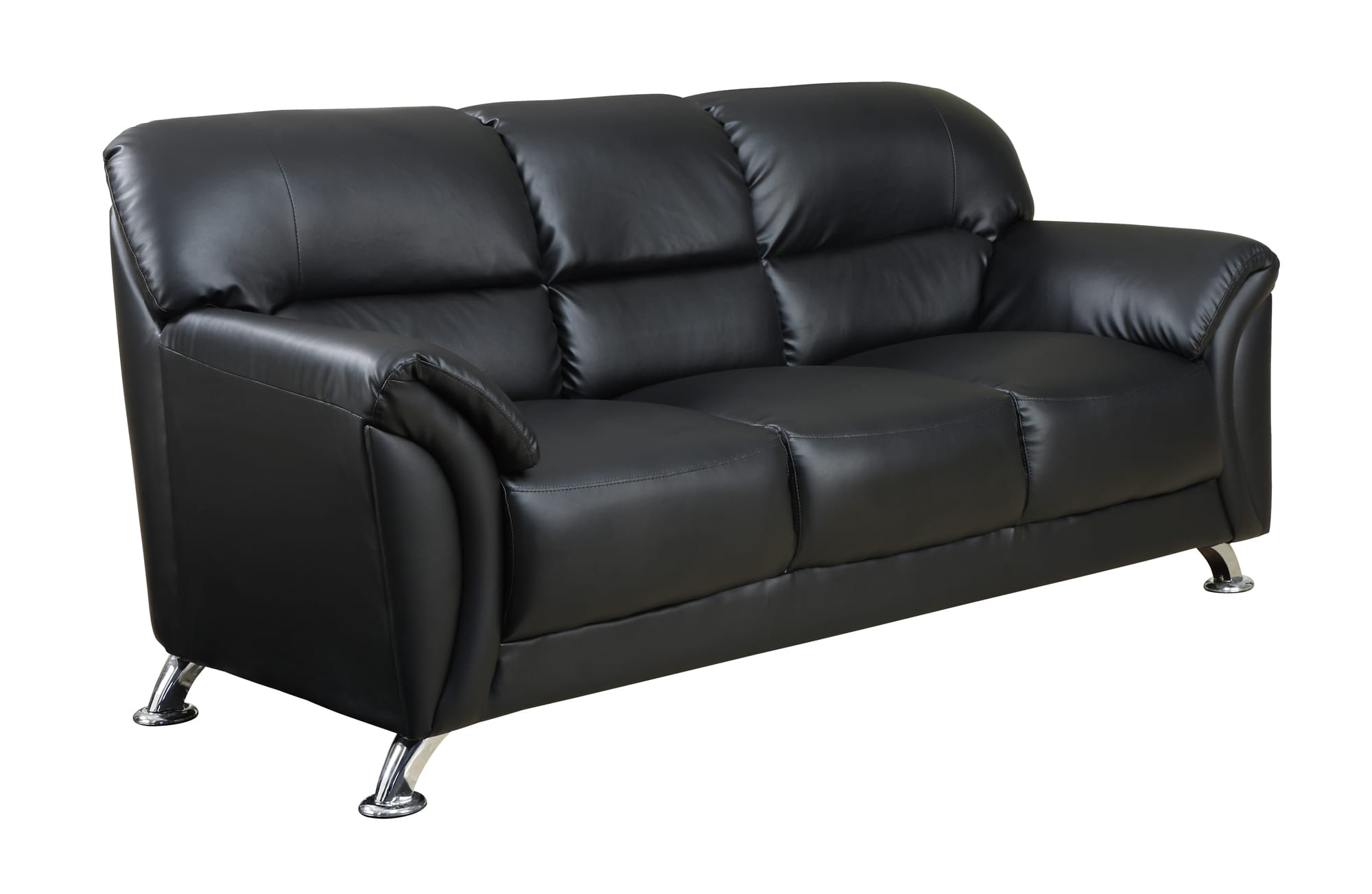 black vinyl futon sofa curved leather u9103 by global furniture