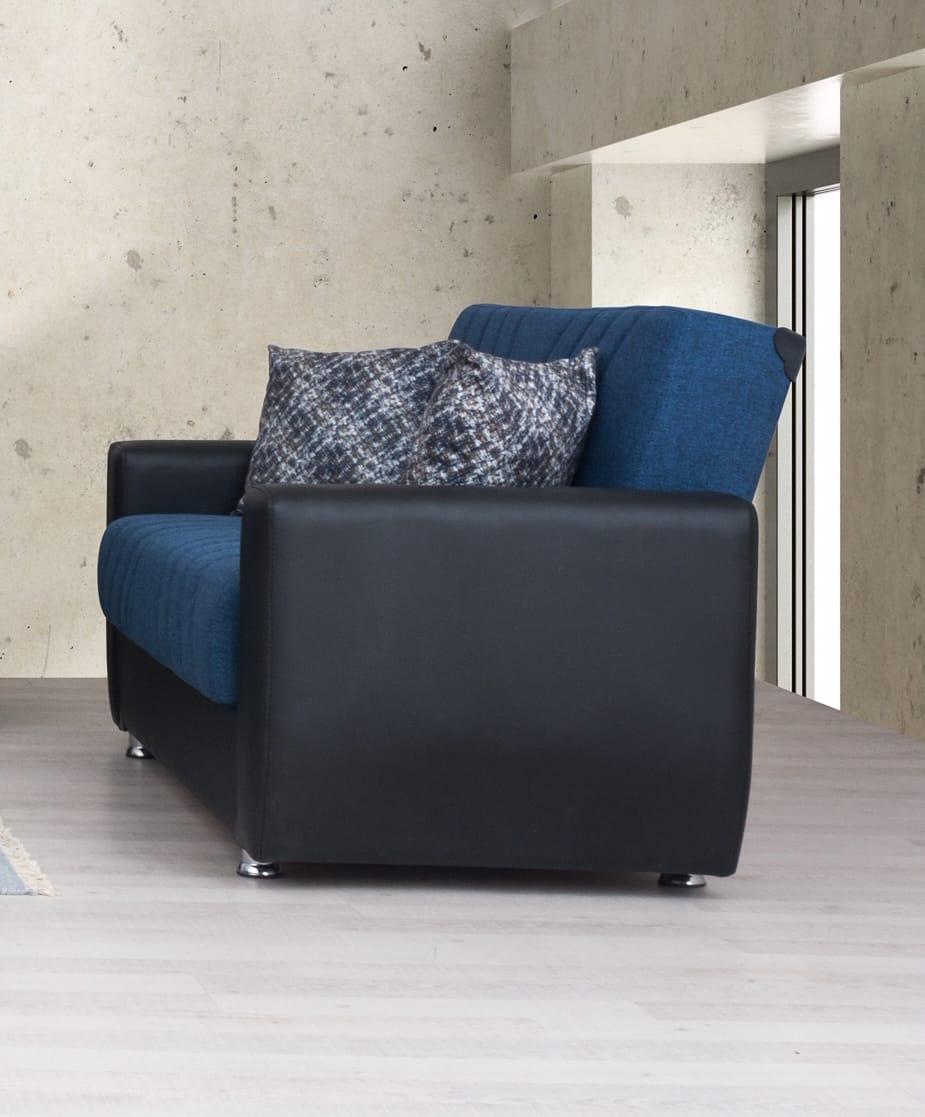 Rana Furniture Bedroom Sets : furniture, bedroom, Fabric, W/Black, Leather, Loveseat, Alpha, Furniture