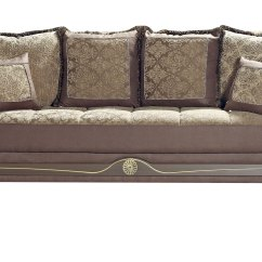 American Sofa Sleeper With Console Style Crown Brown Bed By Mobista