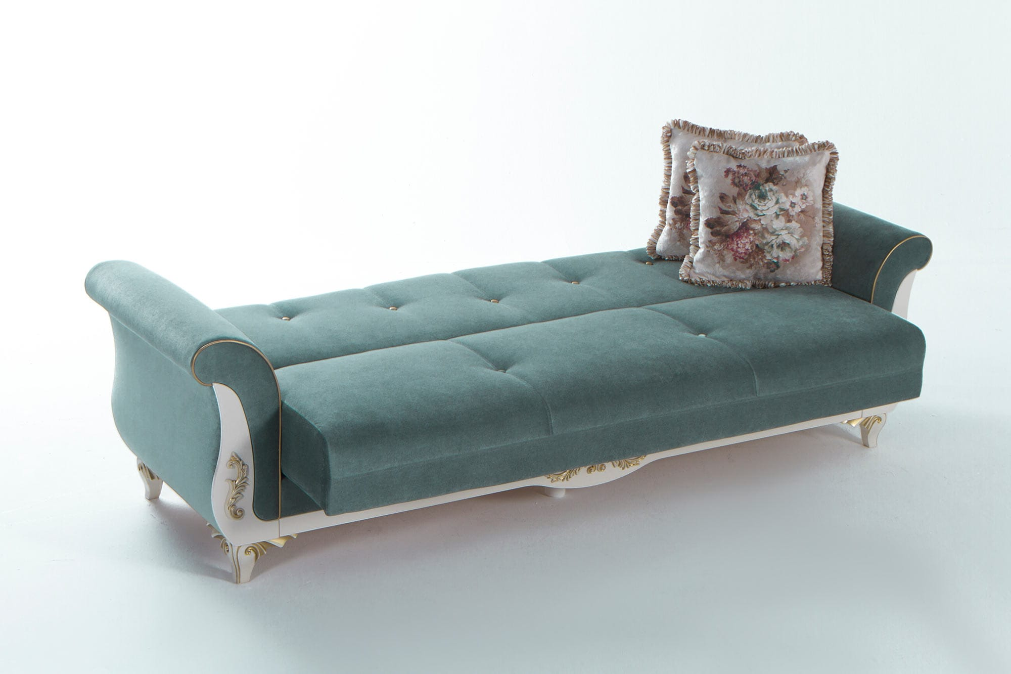 index mulberry sofa bed ikea table hack astoria caprice seafoam green convertible by