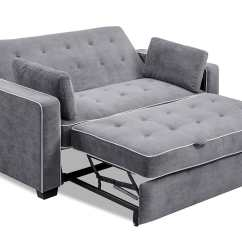 Sectional Sofa Pull Out Bed Design Your Own Canada Augustine Loveseat Full Size Sleeper Moon Grey By Serta ...