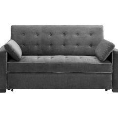 Convertible Sofa Beds New York Modern Corner Bed With Storage Augustine Loveseat Queen Size Sleeper Moon Grey By Serta ...