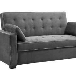 Newport Sofa Convertible Bed Cleaner In Delhi Augustine Loveseat Queen Size Sleeper Moon Grey By Serta