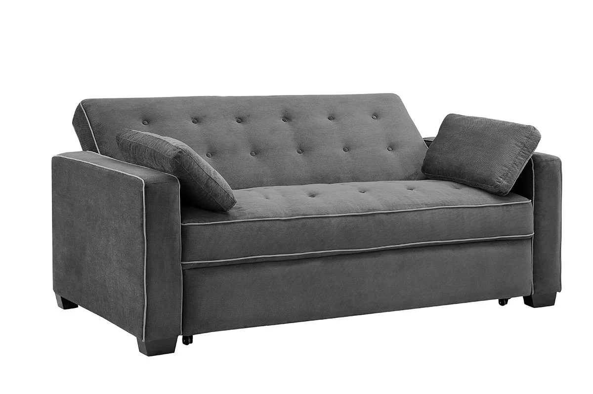 convertible sofa beds new york on credit no deposit augustine loveseat queen size sleeper moon grey by serta ...